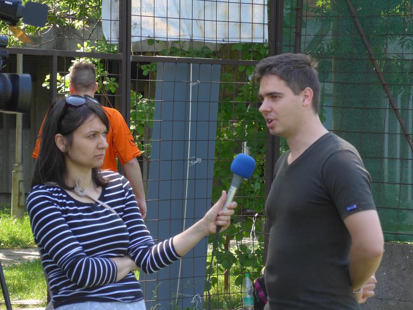 Barkóczi Csaba a futball bajnokságról nyilatkozik a médiának
