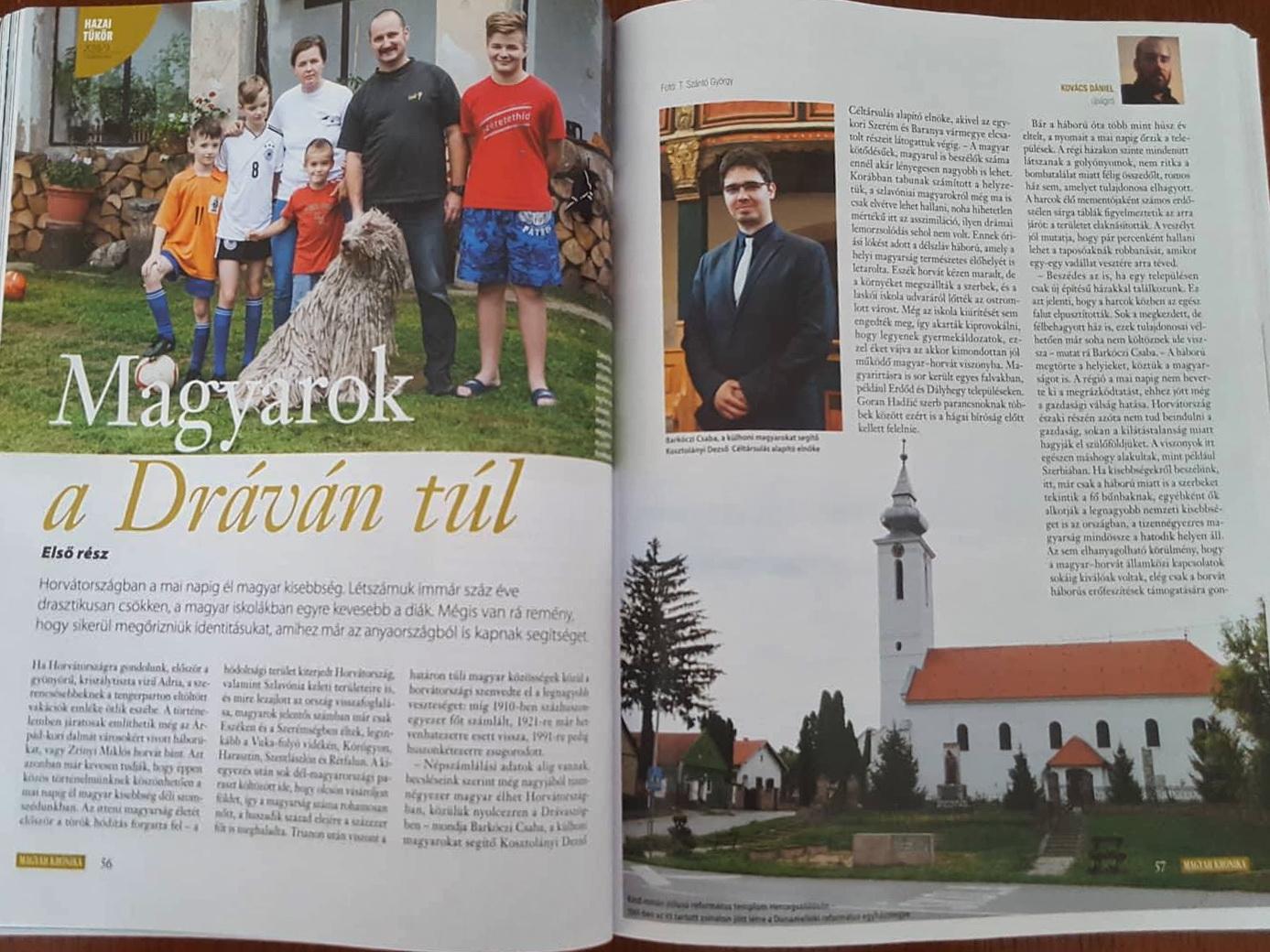 A Kosztolányi Céltársulás a Magyar Krónikában