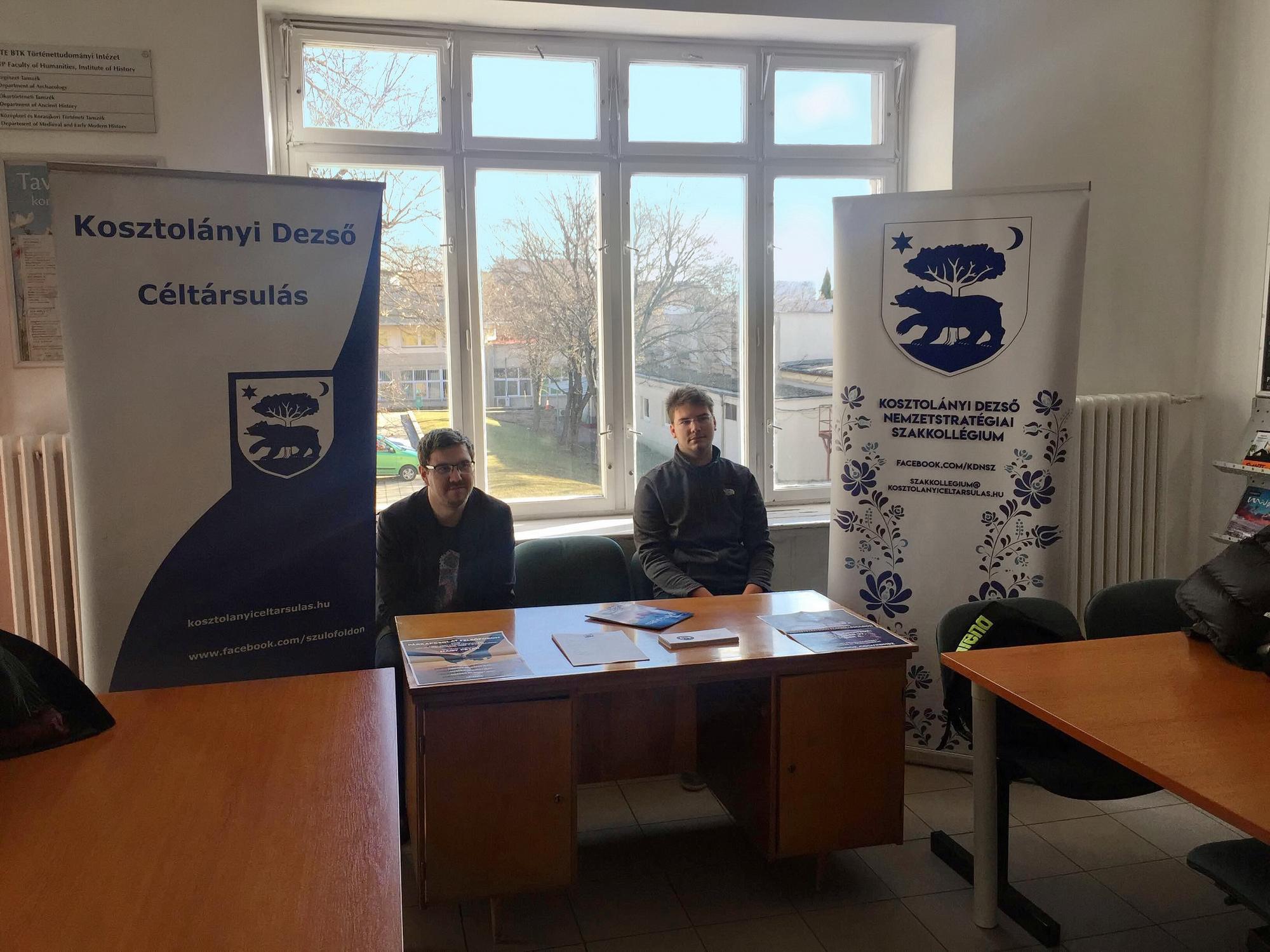 A Nemzetstratégiai Szakkollégium népszerűsítése a történelem karon